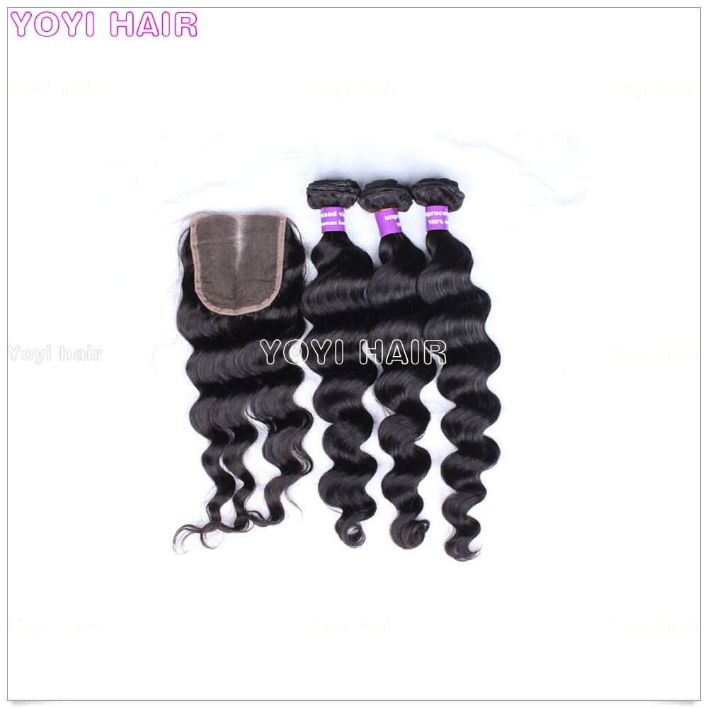Factory wholesale price loose wave hair weft virgin