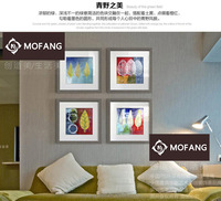 Newest picture of handmade art painting wall art decor oil panel Canvas Print Set Of 4