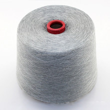 100% Polyester yarn 8% black grey melange yarn 30s ring spun for knitting