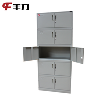 Grey Industrial Used Steel Storage 10 Door File Cabinet