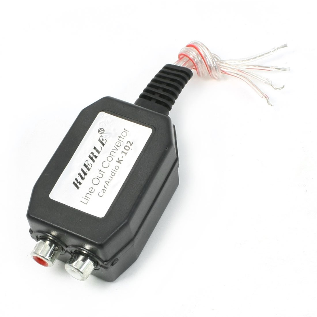 uxcell High to Low Line Out 2 RCA Socket Cars Audio Converter