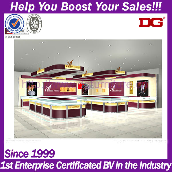 MDF wholesale jewelry design shop counter