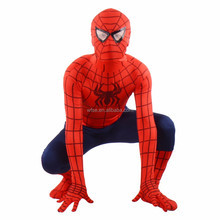 Halloween Lycra Spandex Zentai Costume Red Blue Or Black Spiderman Latex Costume Fancy Suit