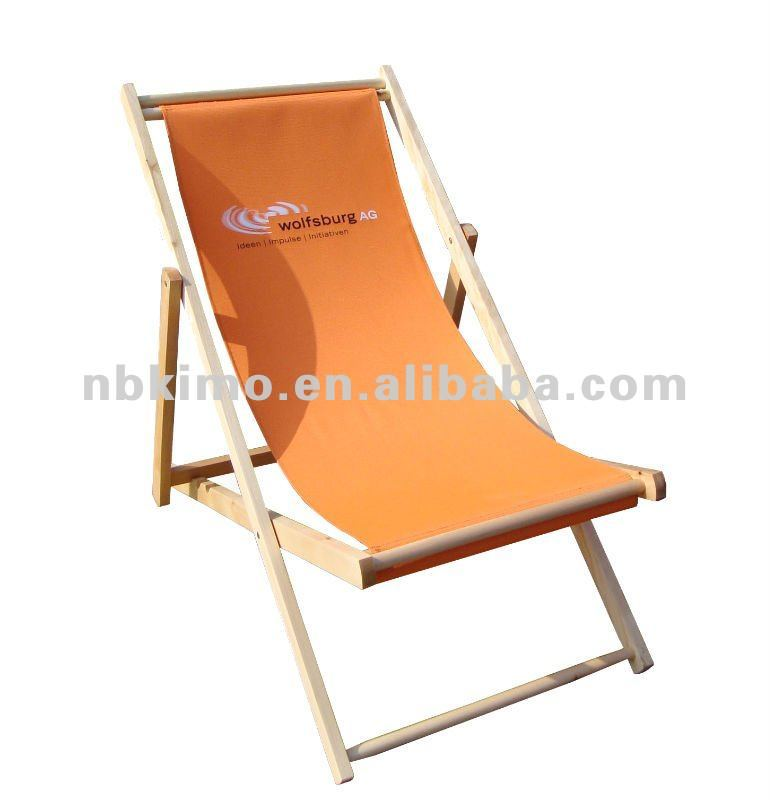 Wooden beach chair / outdoor folding chair