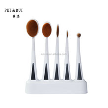 New Arrival 5pcs Makeup Brush Set Professional Oval Brushes 5pcs Portable Makeup Brush Set with Base