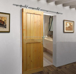 Hot Sale Double Rollers 200kg Heavy Duty Hanging Sliding Barn Door Hardware For Solid Wood