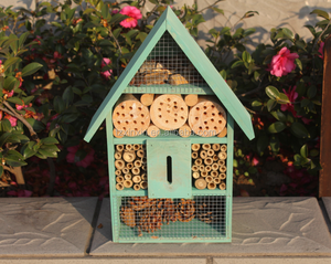 Natural Insect Hotel,colorful/OEM wooden inscet house