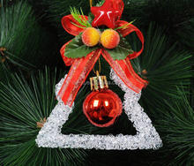 Acrylic Triangle Christmas Tree Ornament Spinners