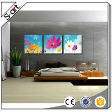 Famous artists new design realism flowers canvas printing art