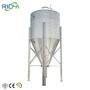 Small Chicken Feed Storage Bin Used For Feed mills Export Algeria