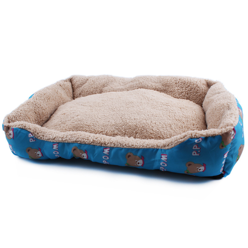 New Fashion Design Pet Cat and Dog Bed Promotion Cute Cartoon Bear Kennel Cat Litter Pet Nest 55*40*10 CM WTD342