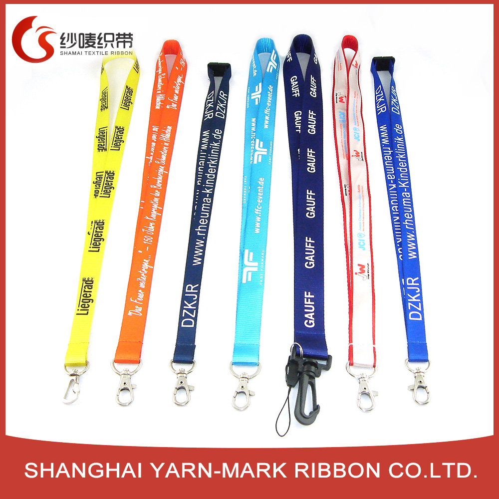 Customed colors hand cell phone lanyard strap sport football team logo lanyards