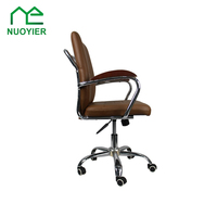 PU cover swivel office chair top rated staff chair white leather chair