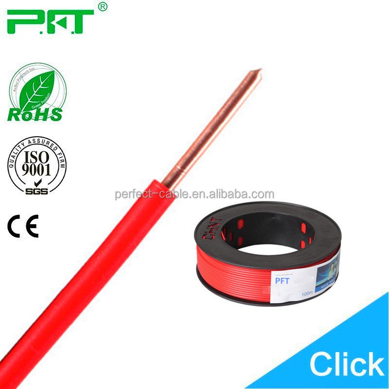 Excellent quality 450/750 PVC Insulated 1.5mm/2.5mm/4mm/6mm BV House Wiring Electrical Cable