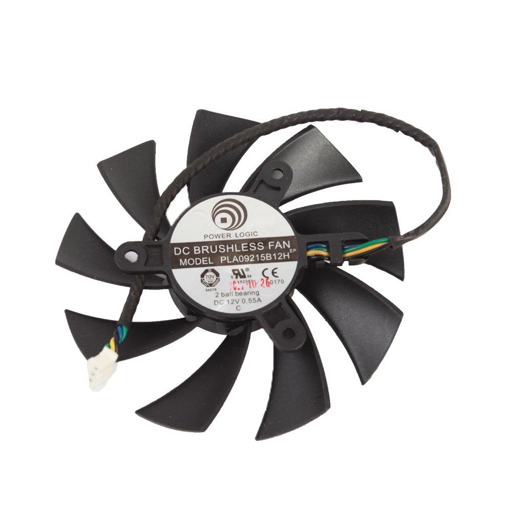 PLA09215B12H 12V 0.55A 87mm 4 Pin Replacement Cooling Fan For N460GTX N560GTX 570 580GTX HD6870 Graphics Card Fan