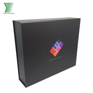 factory custom matt black cardboard garment packaging box
