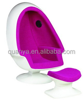 Stylish Upholstery Egg Chair With Speakers, Leisure Egg Shape Sofas, Living  Room Sofas