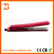 mini travel flat iron ceramic / titanium hair straighteners