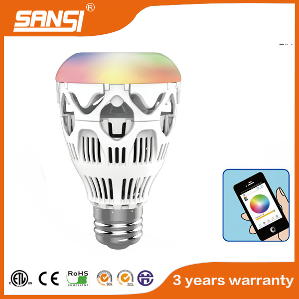 SANSI Top sale!! wifi remote control rgbw led bulb UL approval