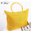 2015 wholesale New fashion environmental protection large straw tote beach bags