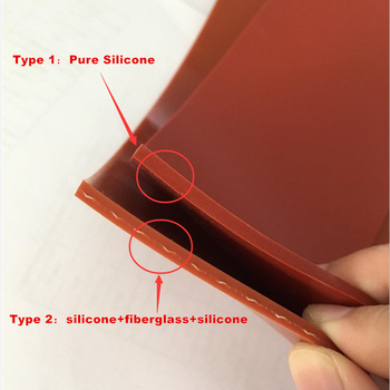1.2mm Thickness Customized Size Red Silicone Rolls Soft Heat Resistant Coated Fiberglass Silicone Rubber Sheet