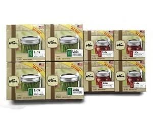 8-pack Kerr Canning Lids: (4) Regular Mouth and (4) Wide Mouth, 12-count Boxes by Kerr