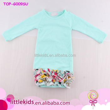 Cute Blank Baby Icing Raglan Gown Nightgown For Newborn Infant ...
