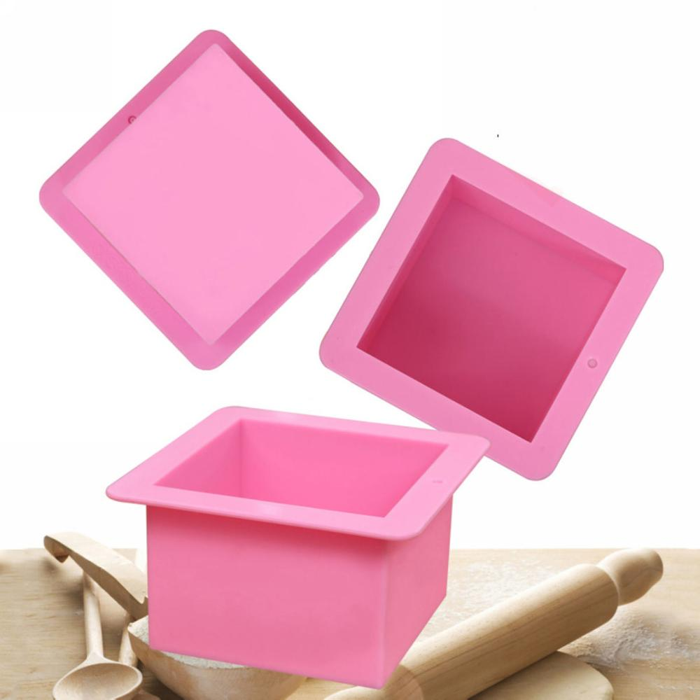 500ml Large Cube Square Soap Candle Cake Jello Lotion Bar Silicone Mold