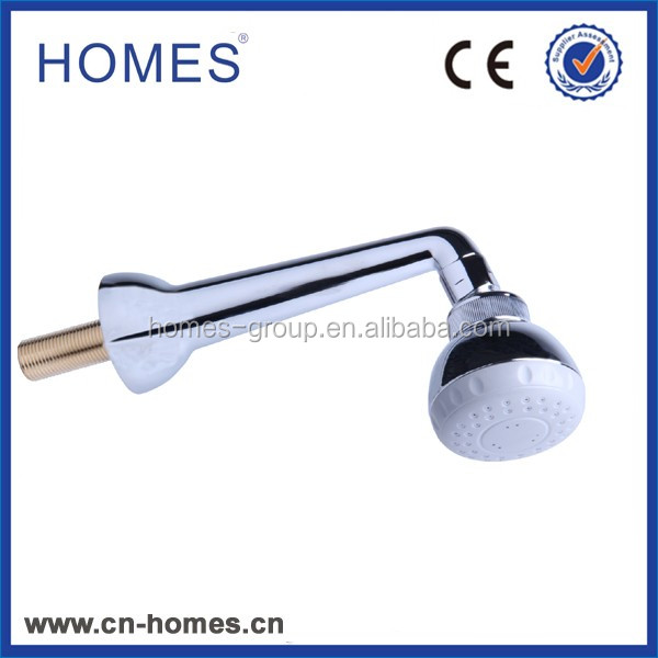Modern 3 Function Fixed Shower Head & Arm - Chrome