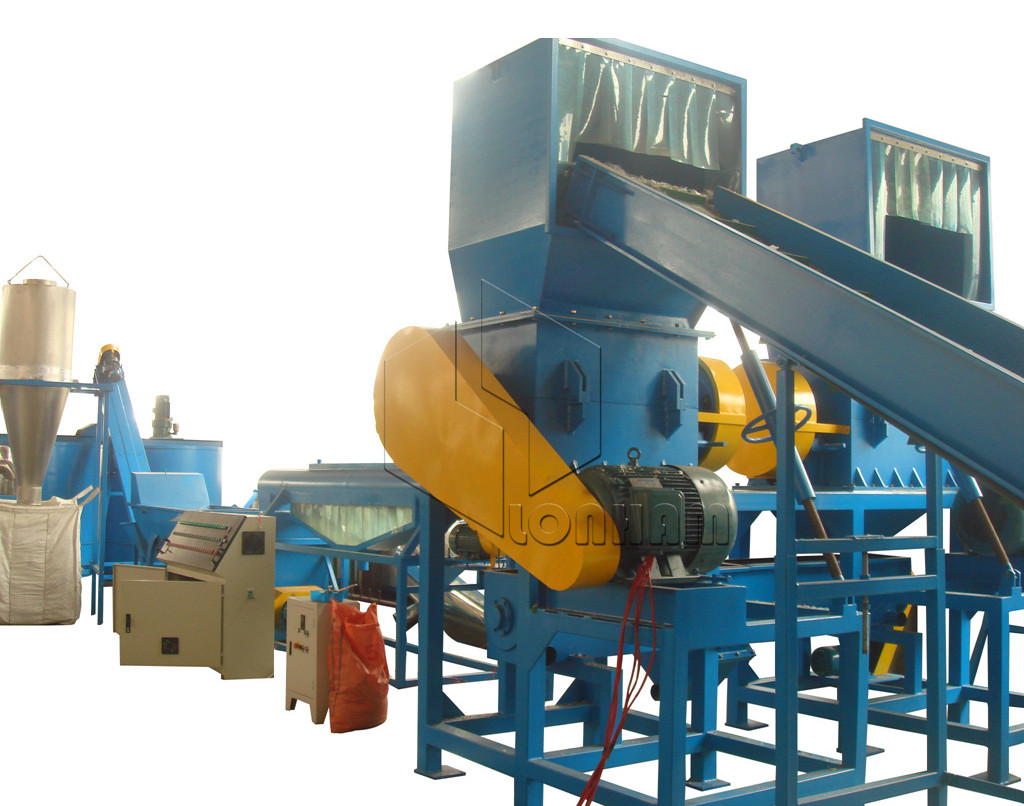 PET Bottle Flakes Hot Washing Machine Recycling Line