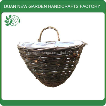 Half Round Wall Basket Planter Buy Wall Hanging Basket Hanging