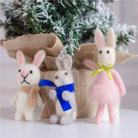 China supplier wholesale christmas ornaments wool animal Easter decoration easter bunny