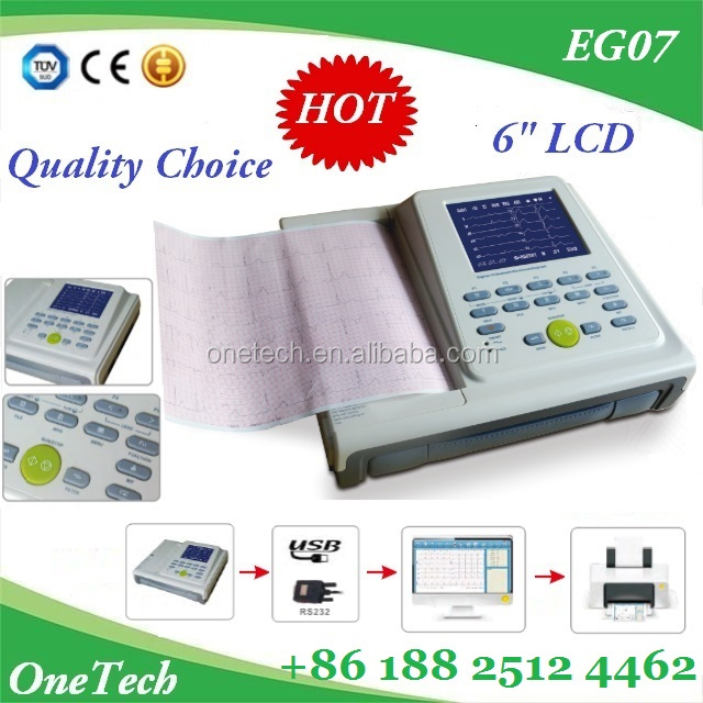 PC based ECG data fast transmitted 12 channel ECG machine / Multi-printing mode ECG monitor factory price portable EG07