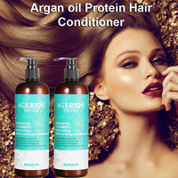 Private label Keratin Argan oil Nourishing Softening Thickening Protein Hair Conditioner