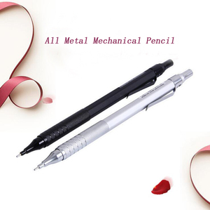 All Metal Mechanical Pencil With Eraser 0.5mm