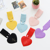 Wholesale simple heart shape leather luggage tag cheap multi color luggage tag