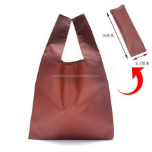 Integrated drawstring pouch design recycle polyester environment bag