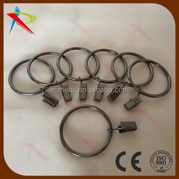 Gun Metal Color Durable Iron Curtain Rings Clips Shower