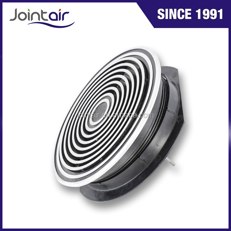 Zinc Alloy Round Adjustable Floor Air Vent Diffusers