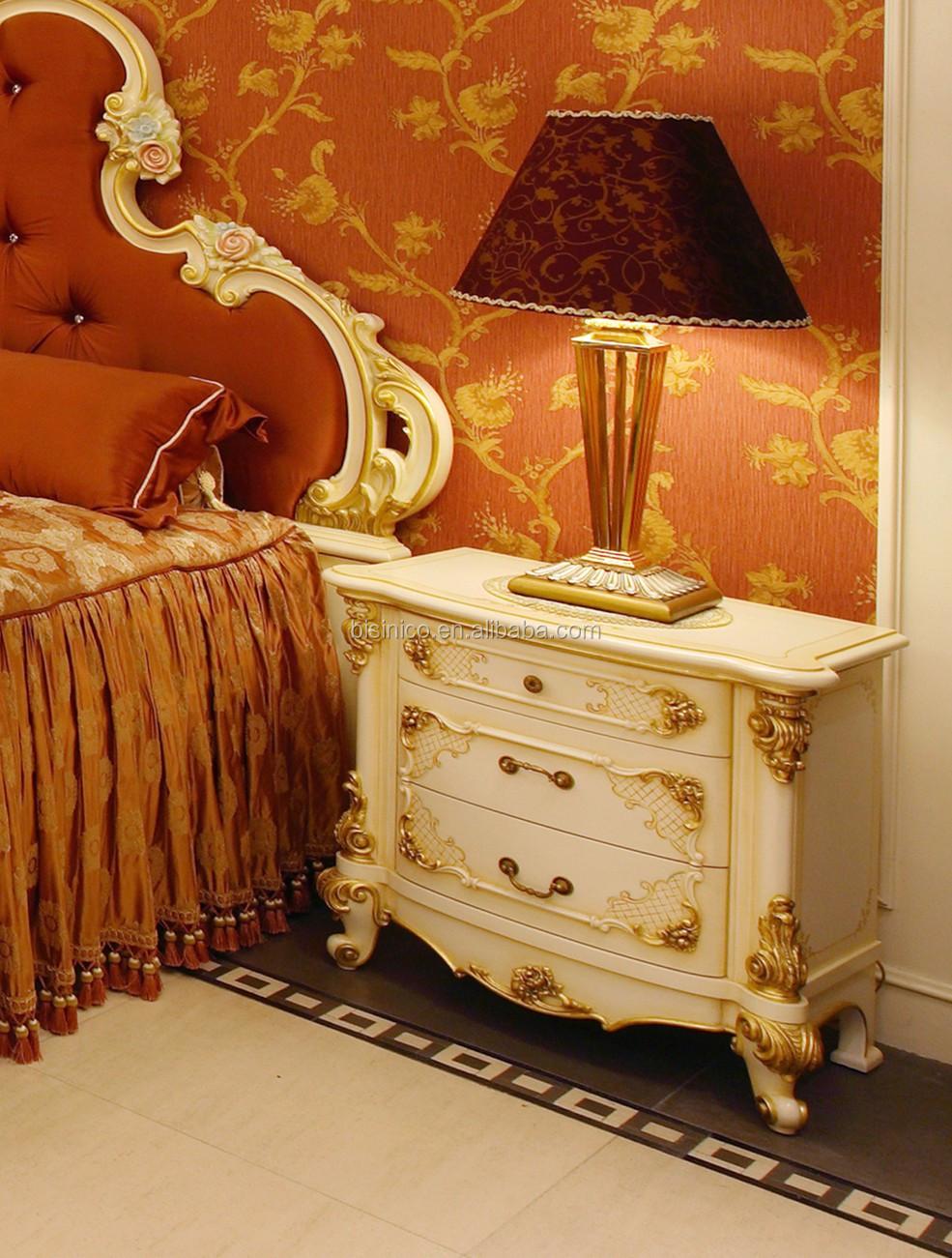 Franc S Elegante Talla De Madera Dormitorio Casa De Lujo Dorado  # Muebles Dorados