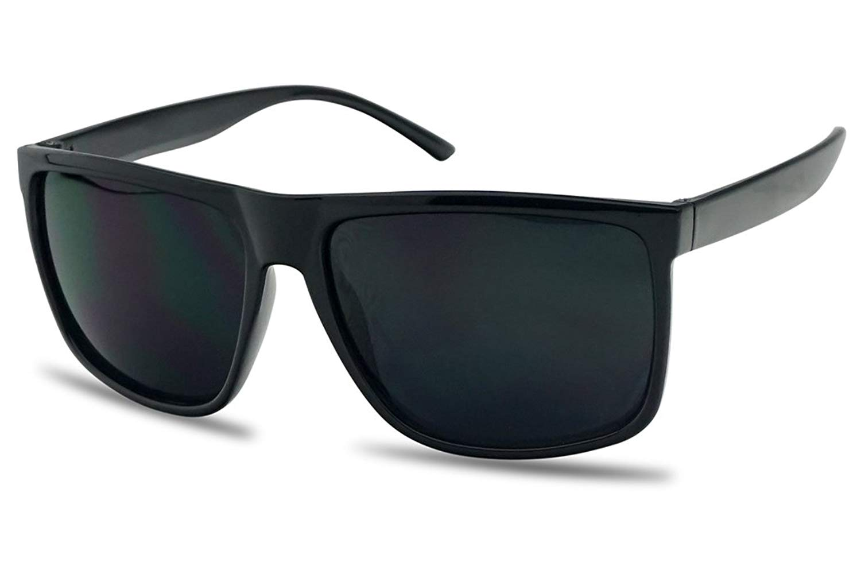 c1e8dc5a25a3 Unisex Classic Square Super Dark Black Limo Tint Lens Keyhole Frame  Sunglasses