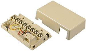Allen Tel Products AT635B 2 Ports, Resistance 20 Ohm Voice Connecting Block, Ivory