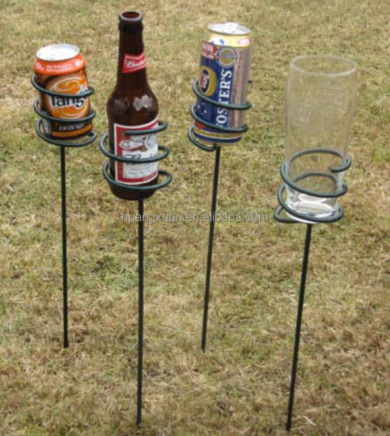 Sy Base Outdoor Picnic Garden Beach Wine Bottle Rack Gl Stakes Beverage Holder