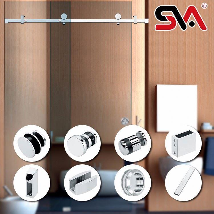 En verre sans cadre porte de douche accessoire portes des for Porte de douche sans cadre