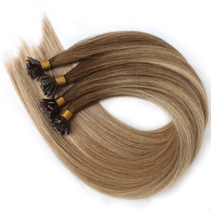 Prebonded Hair Double Drawn Human Hair U tip/Flat tip/I tip Hair Extensions Wholesale Italian Keratin Flat Tip Hair