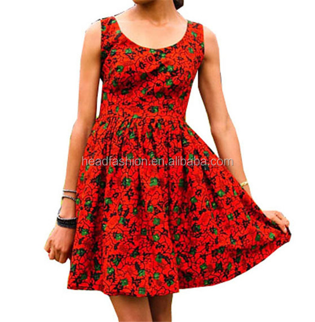 2016 latest dress design fashion african wax dress fabric for Clothing materials for sale
