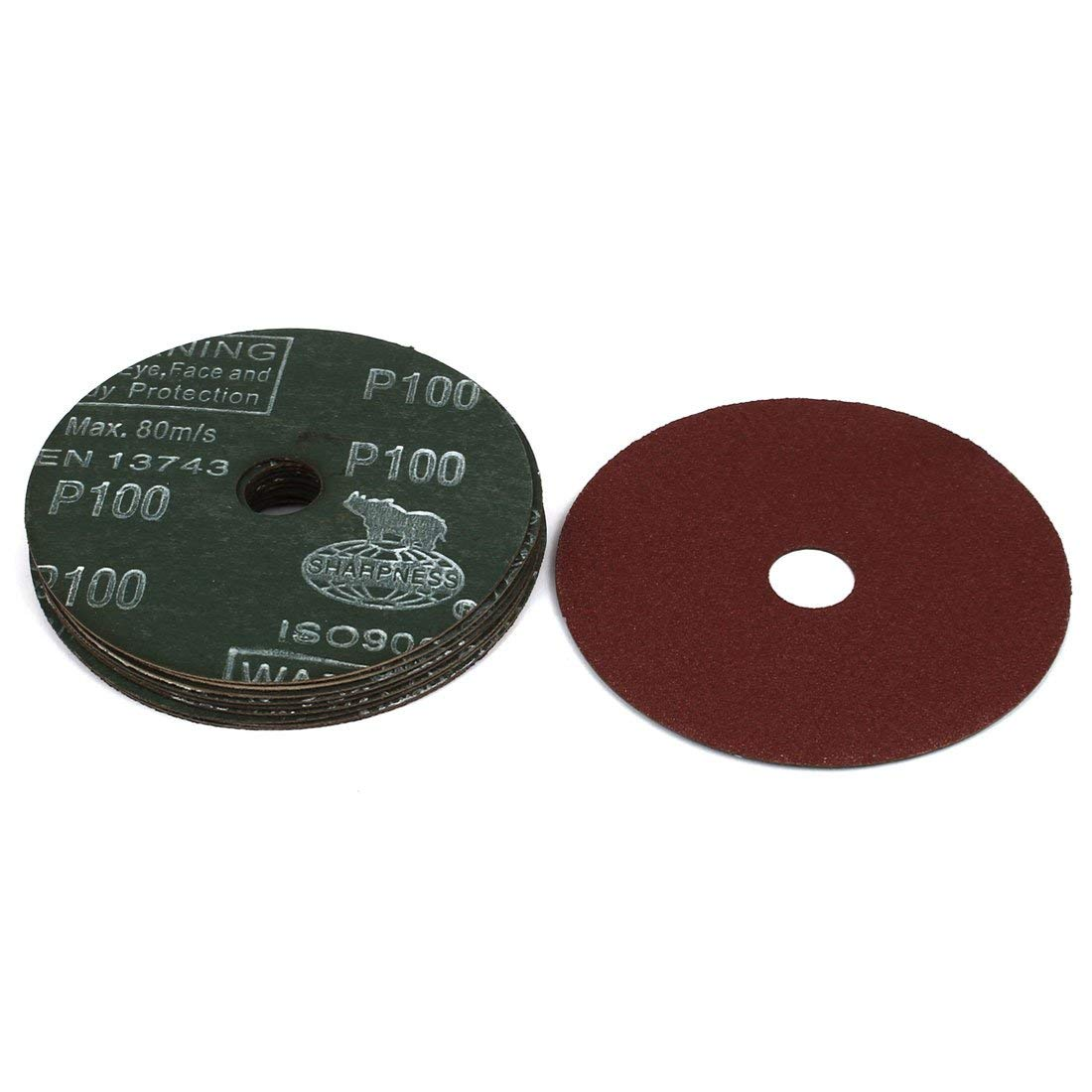 Norton 07660701646 Stick and Sand Abrasive Disc with Pressure-Sensitive Adhesive Attachment Roll of 50 Grit P180 Fine Aluminum Oxide 5 Diameter 5 Holes
