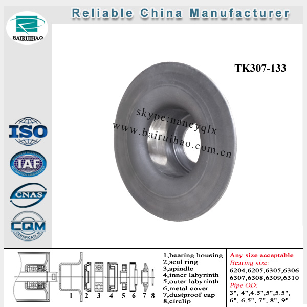 china supplier steel stamped bearing housing for belt conveyor idler roller