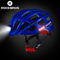 ROCKBROS Wholesale Ultralight Intergrally-molded Rainproof LED Mountain MTB Bike Bicycle Cycling Helmet with Flashing Light