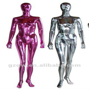 chromed full body female mannequin dummy for window displays